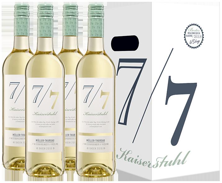 Neu: Den 7/7 Wein gibt es im 4er Karton